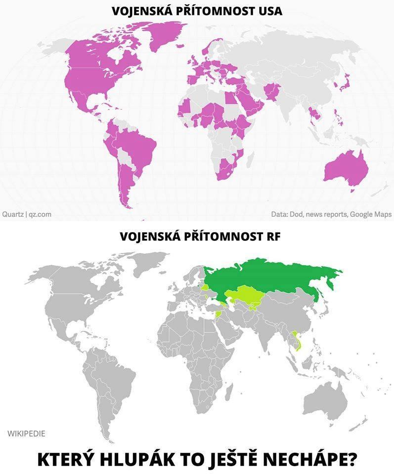 Vojenská přítomnost USA a Ruska